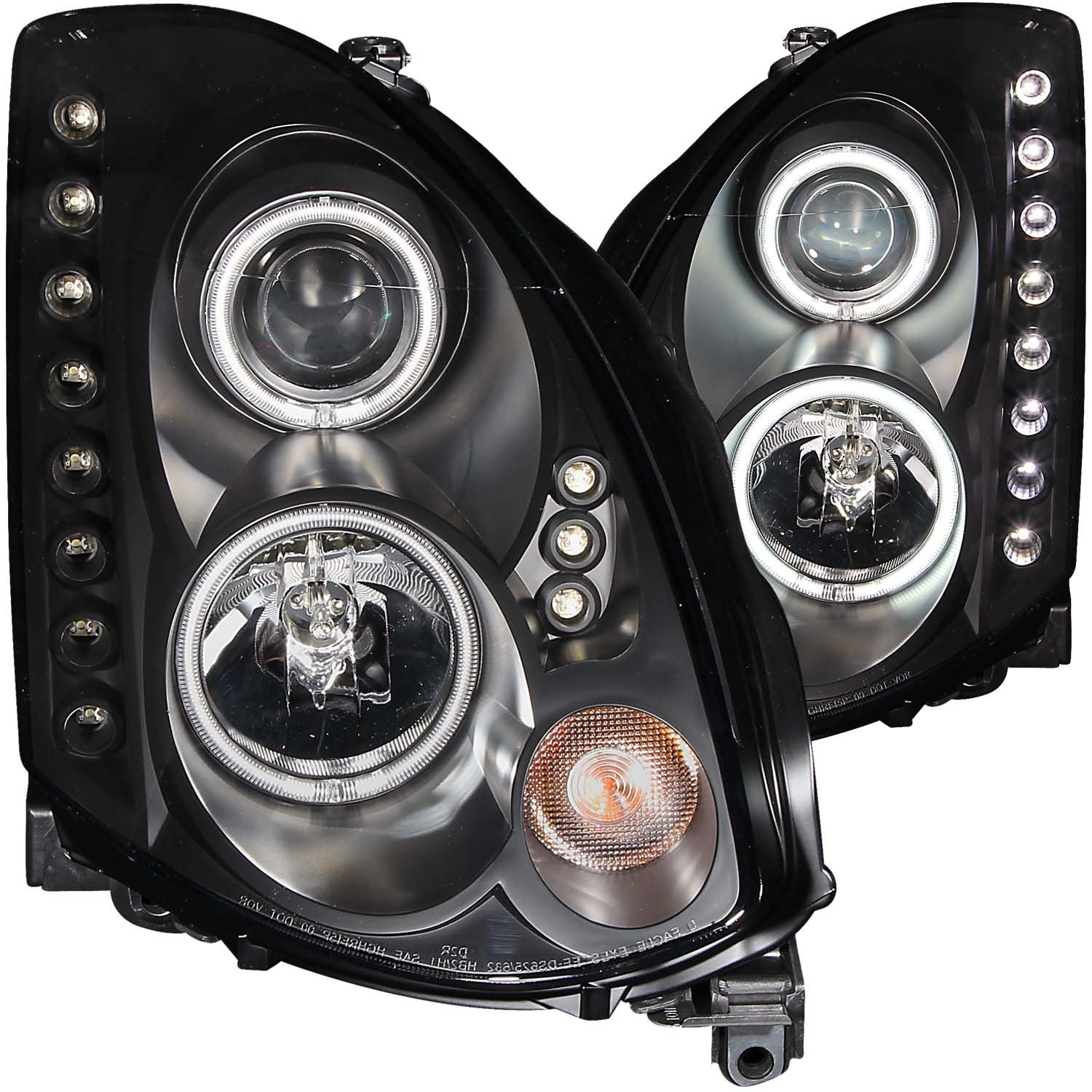 Headlights With Clear Halo G35 Coupe Outcast Garage