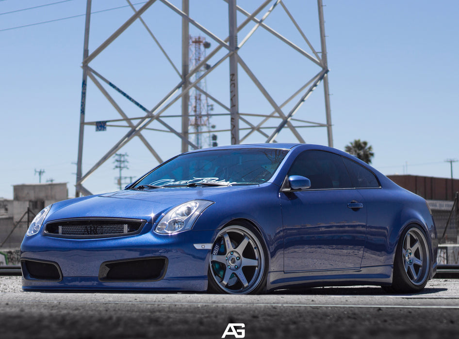 Nismo-Style V3 Front Bumper (Poly) - Infiniti G35 Coupe - Outcast Garage