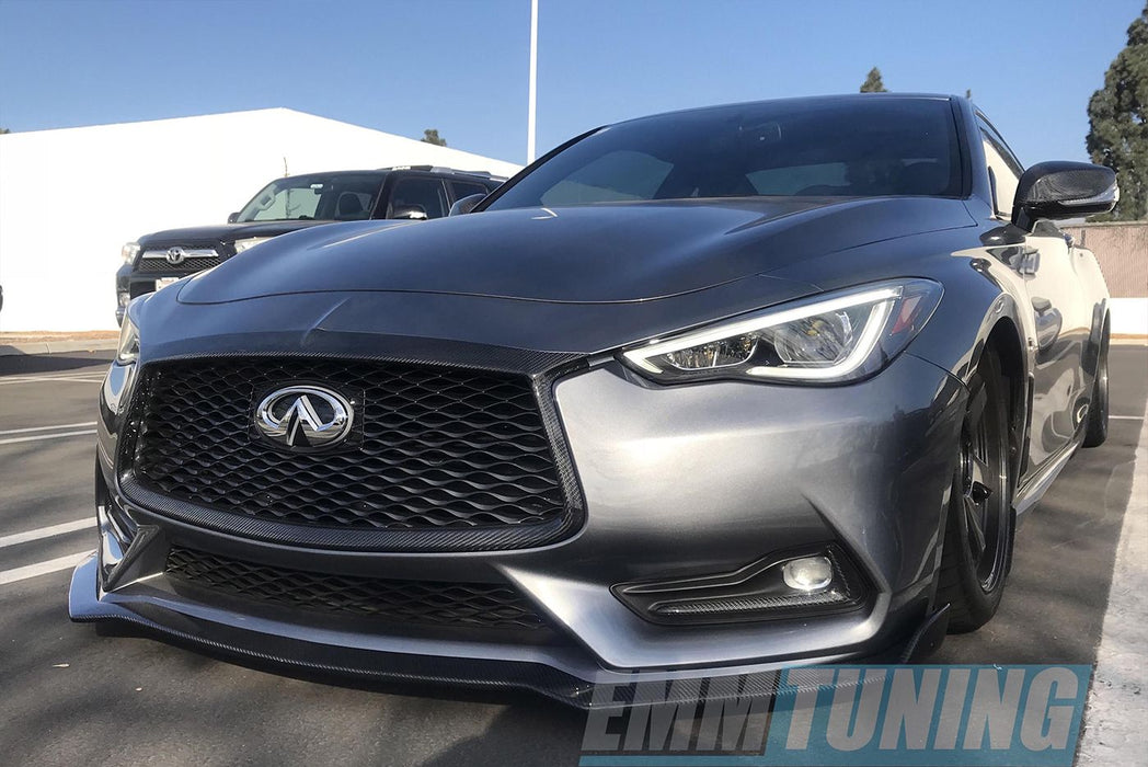 EMM Tuning Front Splitter (Carbon Fiber) - Infiniti Q60 Coupe (2017+)