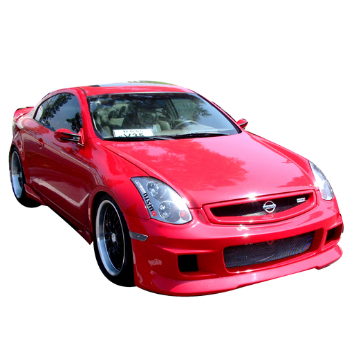 VIS Racing G-Speed / Greddy-Style Front Bumper (Fiberglass) - Infiniti G35 Coupe - Outcast Garage