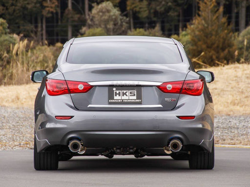 HKS Stainless Steel Axle-Back Exhaust System - Q50 - Outcast Garage
