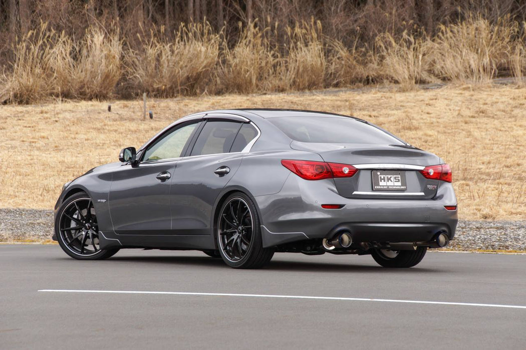 HKS Stainless Steel Cat-Back Exhaust System - Q50 - Outcast Garage