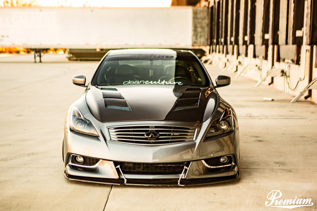 VIS Racing AMS Hood (Carbon Fiber) - Infiniti G37 / Q60 Coupe (09-15) - Outcast Garage