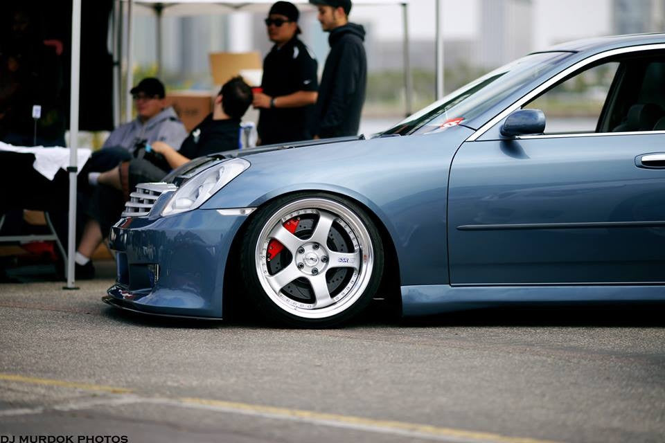 NisRookie Fiberglass Side Skirt - G35 Sedan - Outcast Garage