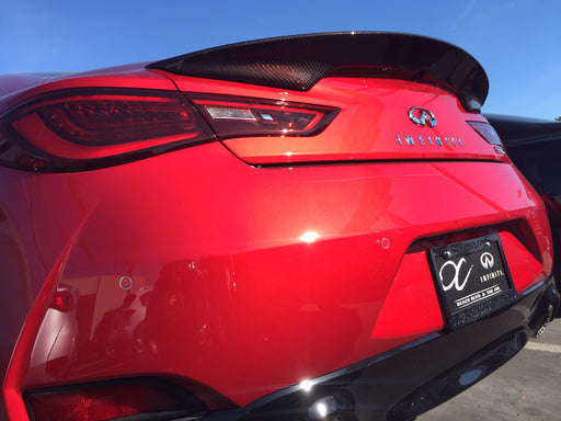Emm Tuning Carbon Fiber Trunk Spoiler - Q60 - Outcast Garage