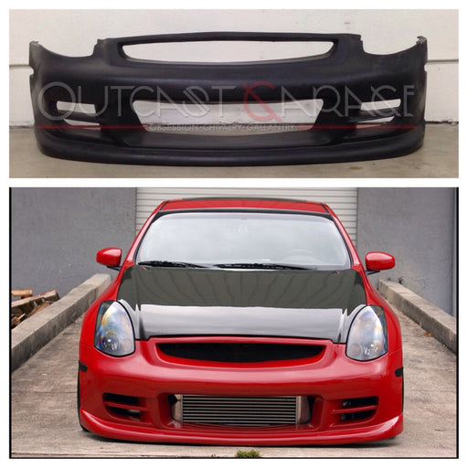 TS Front Bumper (Poly) - Infiniti G35 Coupe - Outcast Garage