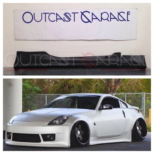 VIS Racing V-Speed / Vertex-Style Side Skirts (Fiberglass) - Nissan 350Z - Outcast Garage