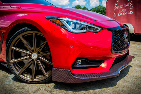 Emm Tuning Carbon Fiber Front Lip - Q60 - Outcast Garage