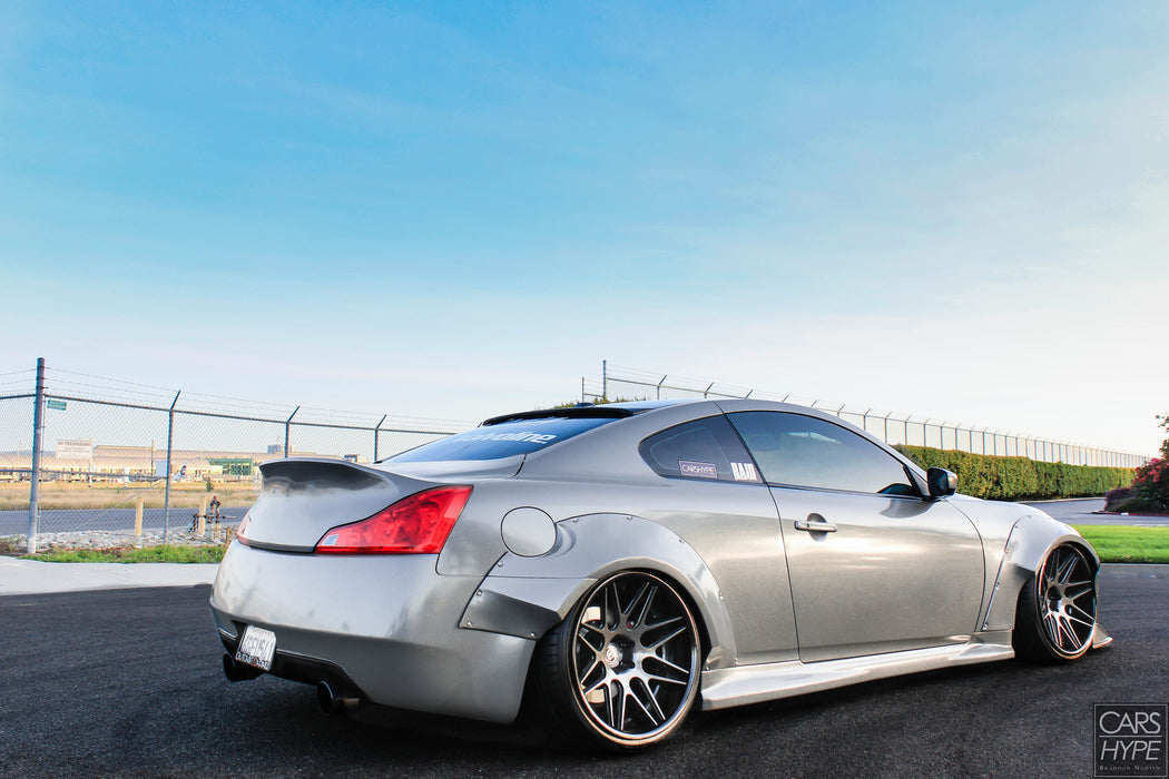 OG Designs Widebody Fender Flares (Fiberglass) - Infiniti G37 / Q60 Coupe (08-15) - Outcast Garage