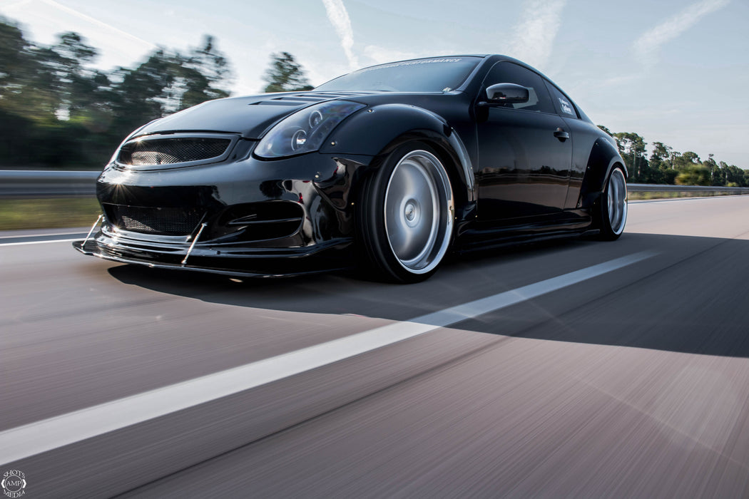OG Designs Widebody Fender Flares (Fiberglass) - Infiniti G35 Coupe - Outcast Garage