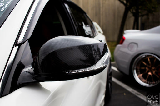 OG Designs Mirror Covers (Carbon Fiber) - Infiniti Q50 - Outcast Garage