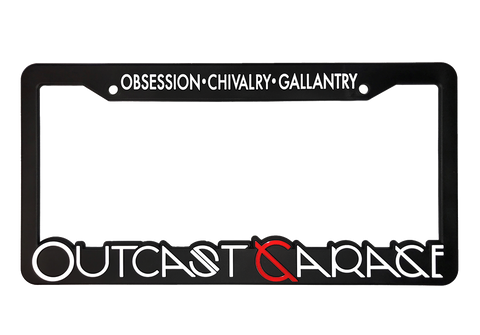 Outcast Garage License Plate Frame