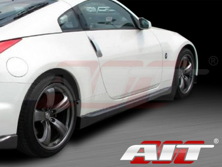 AIT Racing Nismo-Style V3 Side Skirts (Fiberglass) - Nissan 350Z - Outcast Garage