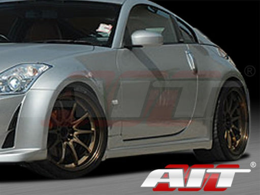 AIT Racing AMU-Style Side Skirts (Fiberglass) - Nissan 350Z - Outcast Garage