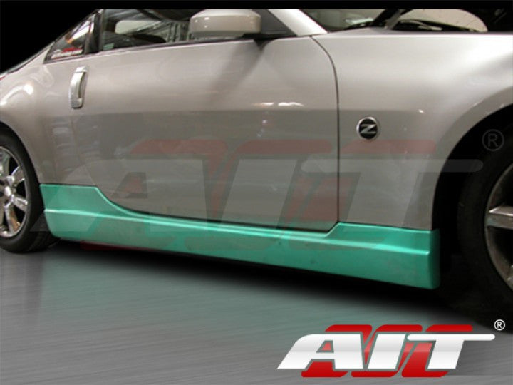 AIT Racing ING-Style Side Skirts (Fiberglass) - Nissan 350Z - Outcast Garage