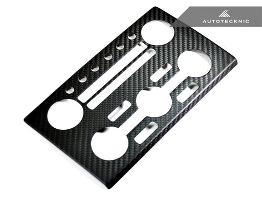AutoTecknic Dry Carbon AC Stereo Dash Panel Cover - Nissan R35 GT-R