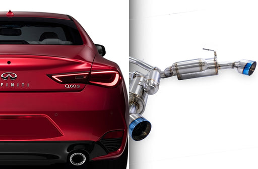 ARK Performance GRiP Cat-Back Exhaust (Burnt Tips) - Infiniti Q60 3.0T / Red Sport 400 (16+) - Outcast Garage