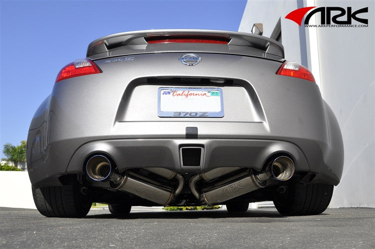 ARK Performance GRiP Exhaust (Burnt Tips) - Nissan 370Z (Z34) - Outcast Garage