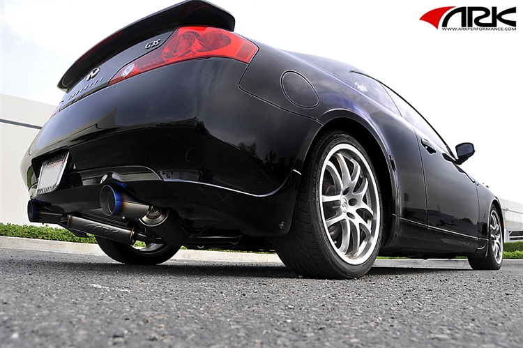 ARK Performance GRiP Exhaust System (Burnt Tips) - Infiniti G35 Coupe - Outcast Garage
