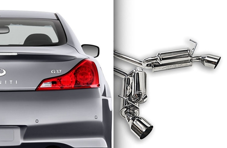 ARK Performance GRiP Exhaust System (Burnt Tips) - Infiniti G37x / Q60 Coupe AWD (08-15) - Outcast Garage
