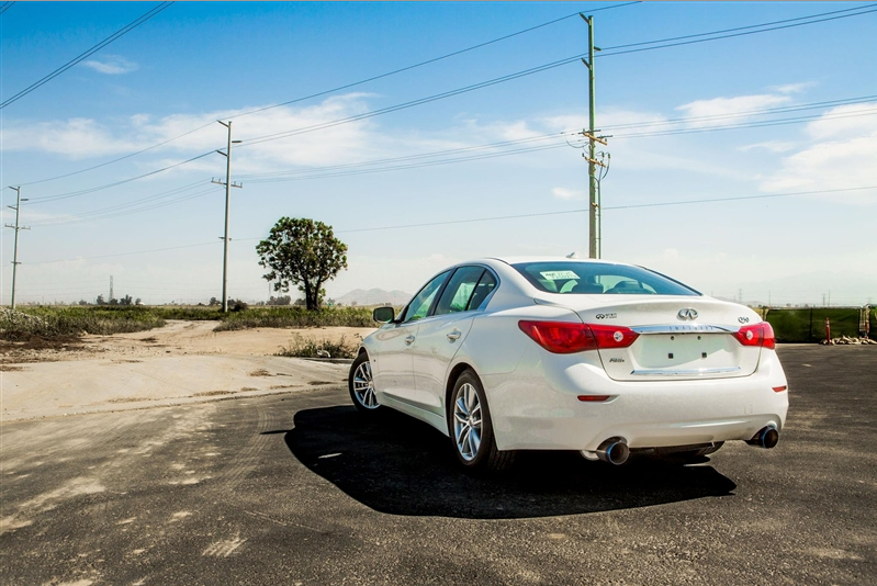 ARK Performance GRiP Exhaust System (Burnt Tips) - Infiniti Q50 3.7 / Hybrid / AWD / RWD (14-16) - Outcast Garage