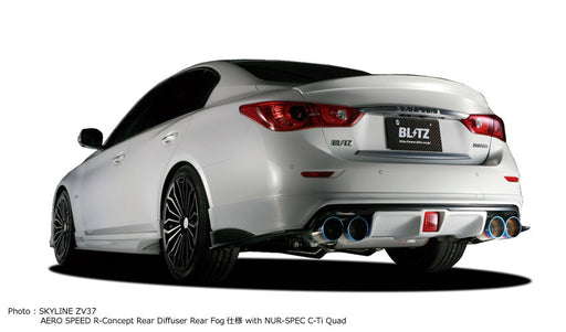Blitz Aero Speed R-Concept Rear Diffuser for Fogs (FRP) - Infiniti Q50 - Outcast Garage