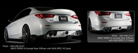 Blitz Aero Speed R-Concept Rear Diffuser without Fog (FRP) - Infiniti Q50