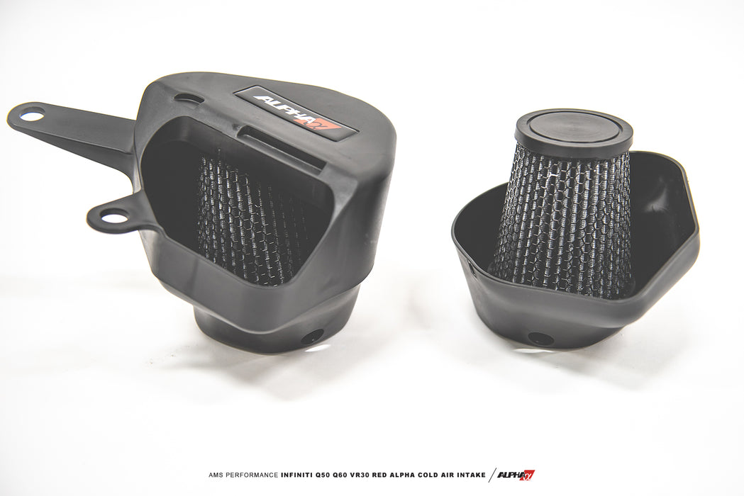 AMS Performance Red Alpha Cold Air Intake System - Infiniti Q50 / Q60 3.0tt - Outcast Garage