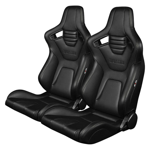 BRAUM Racing Elite-X Series Racing Seats (Black Stitching)