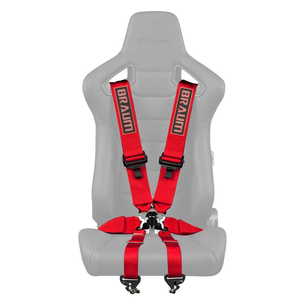 Braum Racing FIA 6-Point Racing Harness (Red)