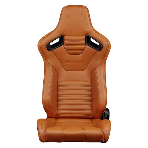 Braum Racing Elite-X Series Racing Seats (British Tan Leatherette)