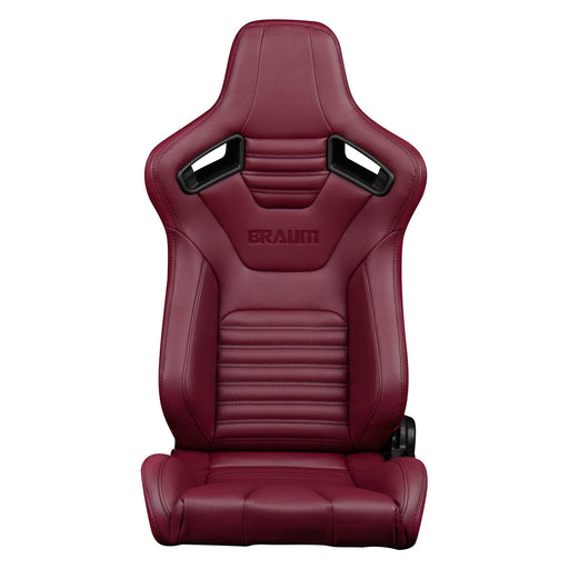Braum Racing Elite-X Series Racing Seats (Maroon Leatherette)