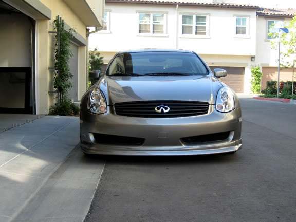 Nismo-Style Front Lip (Poly) - Infiniti G35 Coupe Non-Sport - Outcast Garage