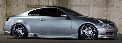 VIS Racing G-Speed / Greddy-Side Skirts (Fiberglass) - Infiniti G35 Coupe - Outcast Garage