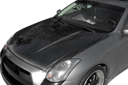 AIT Racing DB9-Style Hood (Carbon Fiber) - Infiniti G35 Coupe - Outcast Garage