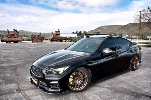 OG Designs Side Splitters (Carbon) - Infiniti Q50 - Outcast Garage