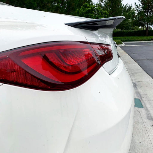 EMM Tuning Trunk Spoiler Version 2.0 (Carbon) - Infiniti Q60 Coupe CV37 (2017+)