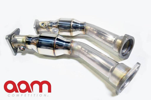 AAM Competition Resonated Downpipes - Q50 3.0TT - Outcast Garage