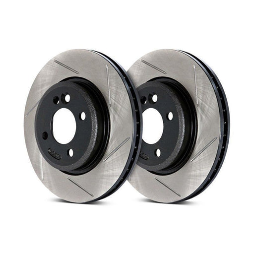 Stoptech Direct Replacement Rotors, Front Pair Slotted, Non-Sport - Nissan 350Z 06-08, 370Z 09+ Z34 / Infiniti G35 05-07 Coupe, 05-06 Sedan RWD, 06 AWD V35