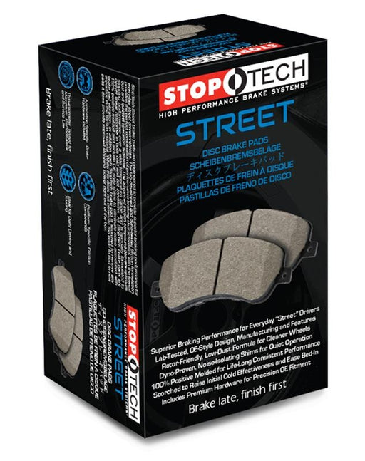 Stoptech Street Brake Pads w/ Standard Non-Sport Calipers, Front - Nissan 350Z 03-05 Z33 / Infiniti G35 03-04 Coupe & Sedan RWD, 03-05 G35x AWD V35
