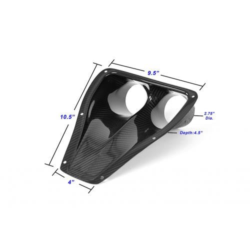 APR Performance Carbon Fiber NACA Air Duct Dual Type (NACA-024825) - Universal