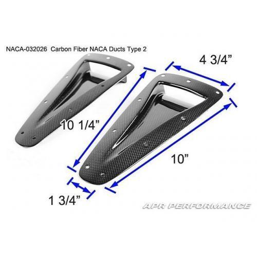 APR Performance Carbon Fiber NACA Duct Type 2 (NACA-032026) - Universal