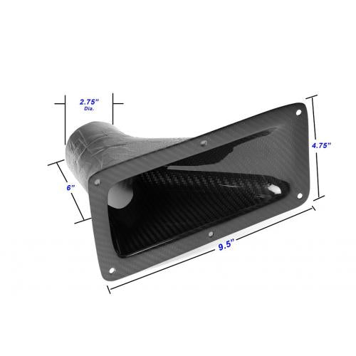 "APR Performance Carbon Fiber Air Duct - 9.25"" x 4.75"""