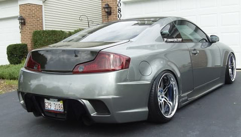 VIS Racing KS-Style Fiberglass Rear Bumper - G35 Coupe