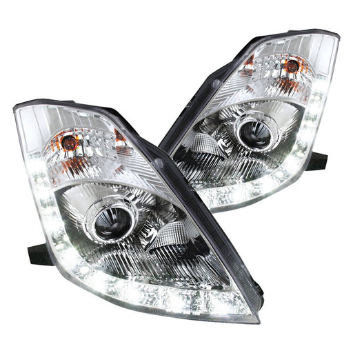 Spec-D Projector Headlights with LED DRL (Chrome) - Nissan 350Z (06-09) - Outcast Garage