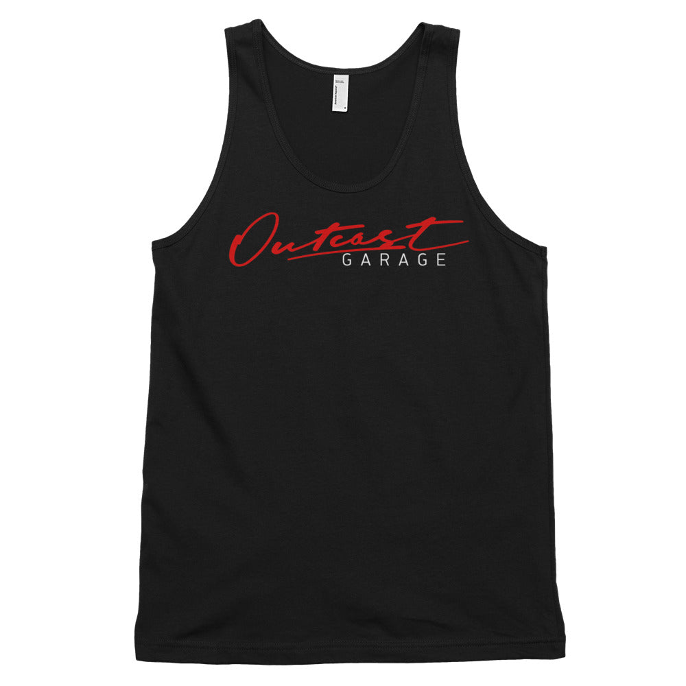 Outcast Garage Classic Tank Top (Unisex) - Black - Outcast Garage