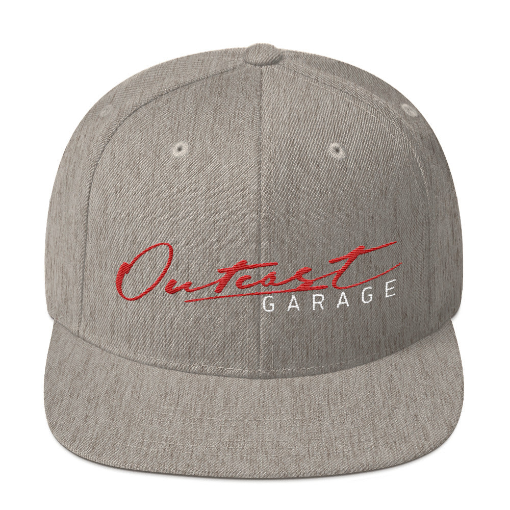 Outcast Garage Snapback Hat - Grey - Outcast Garage