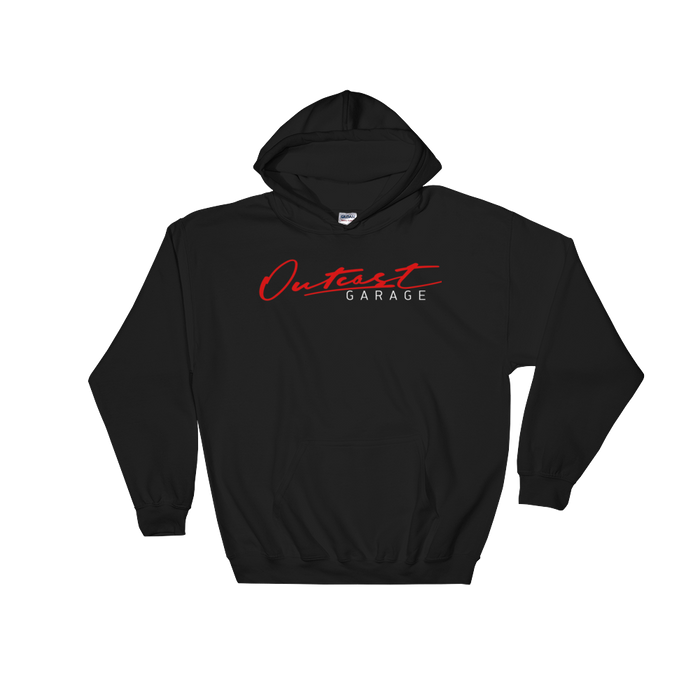 Outcast Garage Hooded Sweatshirt - Black - Outcast Garage
