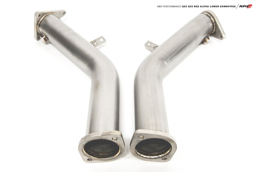 AMS Red Alpha Lower Downpipes - Infiniti Q50 / Q60 3.0tt - Outcast Garage