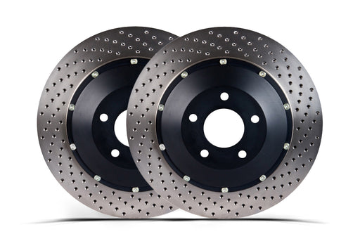Stoptech Replacement 2pc AeroRotor, Drilled - Rear w/ Brembo Calipers - Nissan 350Z / Infiniti G35
